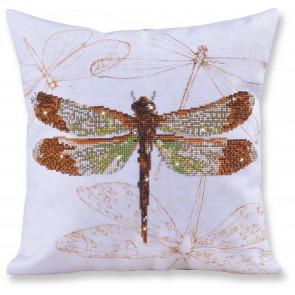 DIAMOND DOTZ Kissen Dragonfly Earth 45x45 cm