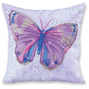 DIAMOND DOTZ Kissen Papillon Mauve blau-rosa 45x45 cm