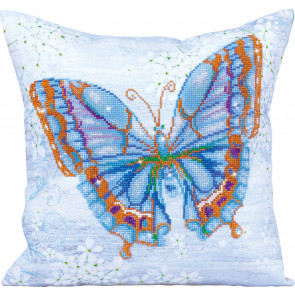 DIAMOND DOTZ Kissen Papillon Bleu blau 45x45 cm