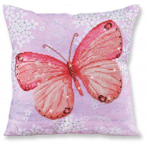 DIAMOND DOTZ Kissen Papillon Abricot rosa 45x45 cm