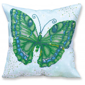 DIAMOND DOTZ Kissen Papillon Vert grün 45x45 cm