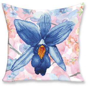 DIAMOND DOTZ Kissen Sparkle Garden Blue blau 45x45 cm