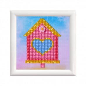DIAMOND DOTZ m. Rahm weiß, Süßes Zuhause 9,5x9,5cm  (3 St)