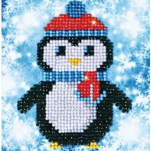 DIAMOND DOTZ Christmas Penguin Picture 13,5x13,5cm  (3 St)