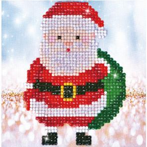DIAMOND DOTZ Santa Claus Sack Picture 13,5x13,5 cm  (3 St)