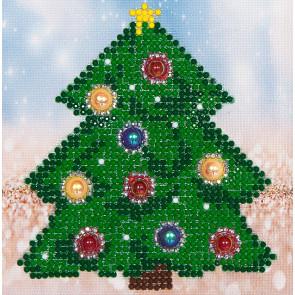 DIAMOND DOTZ Christmas Tree Picture 13,5x13,5 cm  (3 St)