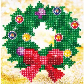 DIAMOND DOTZ Christmas Wreath Picture 13,5x13,5 cm  (3 St)
