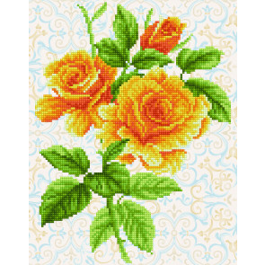 DIAMOND DOTZ Yellow rose Bouquet 28x36 cm