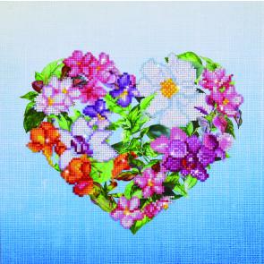 DIAMOND DOTZ Flower Heart 37x37 cm