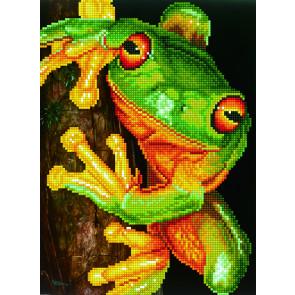 DIAMOND DOTZ Green Free Frog 27x37 cm