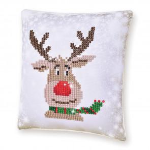 DIAMOND DOTZ Kissen Christmas Reindeer Pillow 18x18cm (2 St)
