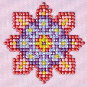DIAMOND DOTZ Flower Mandala 2 7.6 x 7.6 cm  (3 St)