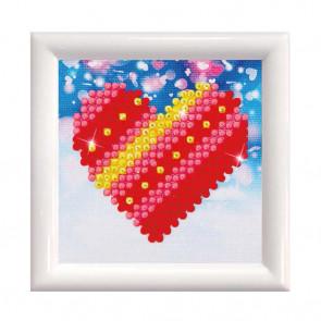 DIAMOND DOTZ m. Rahm weiß, Patchwork Heart 7x7 cm  (3 St)