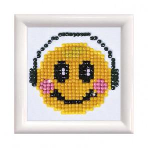 DIAMOND DOTZ m. Rahm weiß, Smiling Groove 7x7 cm  (3 St)