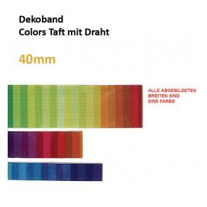 """Dekoband """"Colours Taft"""" m.Draht"""