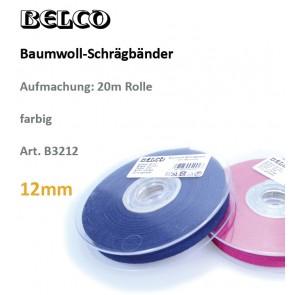 Schrägband Baumw. fbg 12gg/60°wb