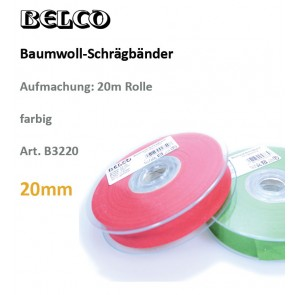 Schrägband Baumw. fbg 20gg/60°wb
