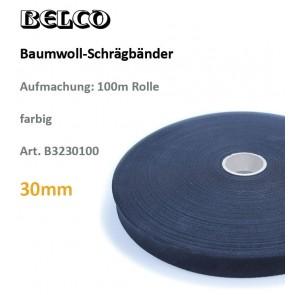 Schrägbd.Baumw. fbg 30gg/60°wb