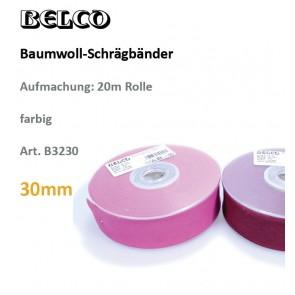 Schrägband Baumw. fbg 30gg/60°wb