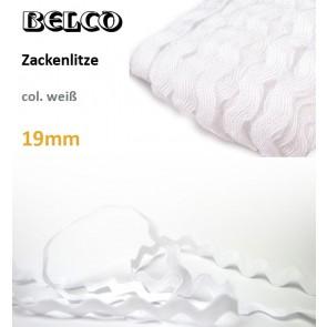 Zackenlitze Baumwolle weiß