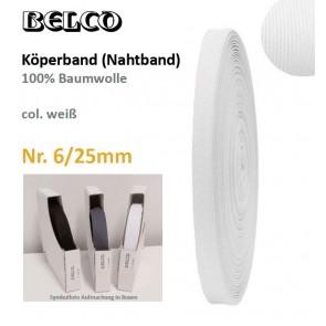 Köperband Nr.6  BELCO, weiß