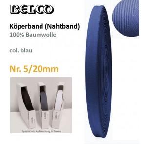 Köperband Nr.5  BELCO, blau, 30°C wb.