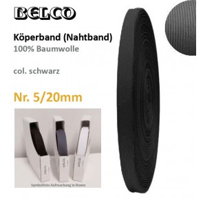 Köperband Nr.5  BELCO, schw.30°C wb.