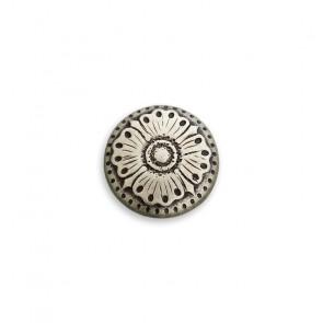 10mm Trachtenknopf gem, Blumenmotiv, m.Öse
