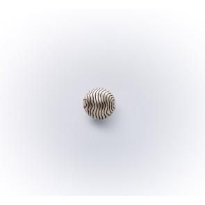 11mm Dirndlknopf Halbkugel gewellt m.Öse,asi