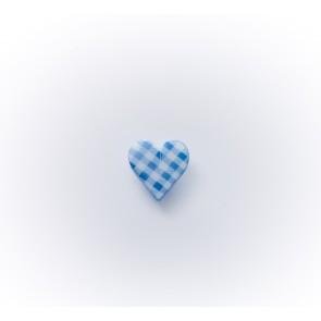 11mm Herzchenknopf Karo mit Öse