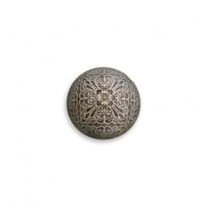 11mm Dirndlhalbkugelknopf galv. Ornament