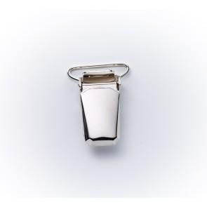 18mm Hosenträgerclips silber
