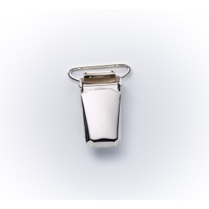 24mm Hosenträgerclips silber