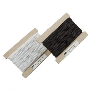 Schnürlg. 1,0mm weiß, schwarz