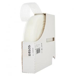 Rüschenelastikgummi  BELCO 25mm, weiß