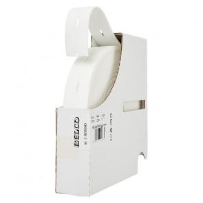 Knopflochgummi BELCO, weiß  25mm