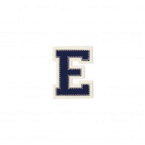 Prym Applikation Buchstabe E blau/ecru