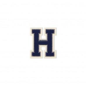 Prym Applikation Buchstabe H blau/ecru