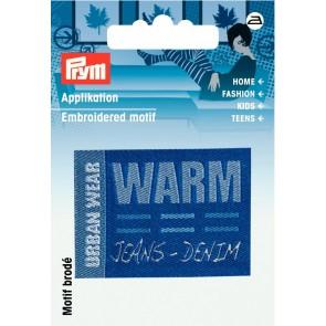 Prym Appl. Label URBAN WEAR WARM blau #