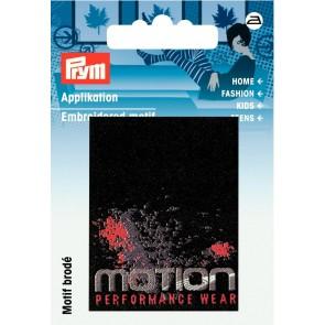 Prym Appl. Label MOTION schwarz/ro #