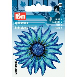 Prym Appl. Exklusiv Blume blau/bleu #