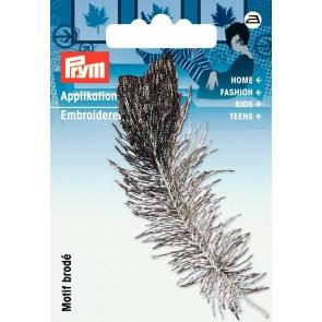 Prym Appl. Feder grau/schwarz #