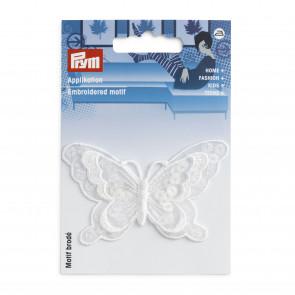Prym Applikation Schmetterling festlich weiß
