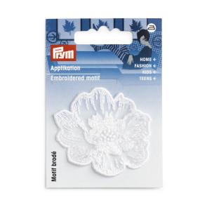 Prym Applikation Blume festlich weiß klein Stickerei