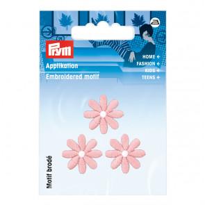 Prym Applikation Blumen klein pastell rosa