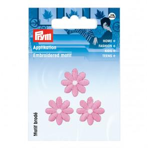Prym Applikation Blumen klein rosa
