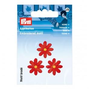 Prym Applikation Blumen klein rot