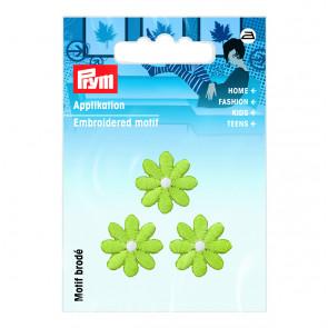 Prym Applikation Blumen klein grün
