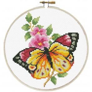 LADYBIRD Stickset Butterfly Bouquet rund 15,2 cm