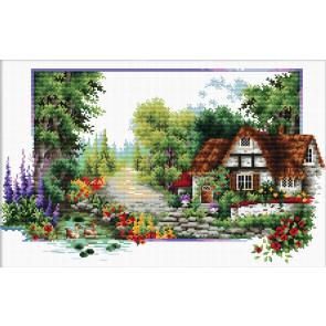 LADYBIRD Stickset English Cottage Stream 40x24 cm